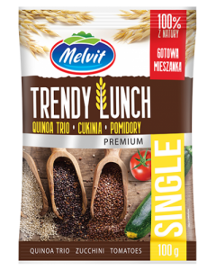 Trendy Lunch Single z quinoa trio, cukinią i pomidorami 100g Melvit