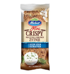 Crispy with goat cheese and rosemary 30 g Melvit