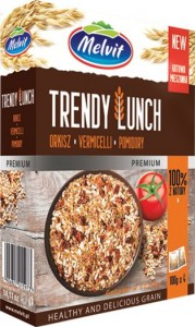 Trendy Lunch orkisz, vermicelli, pomidory 4 x 100 g Melvit